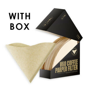 Paper Filters for V60 Dripper Coffee Maker Compatible 1-4 Cups Unbleached 100PCS