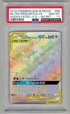 Pokemon Articuno Zapdos Moltres GX secret Rainbow Hidden Fates PSA 10 Original
