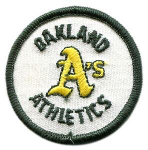 "OAKLAND ATHLETICS A'S MLB BASEBALL VINTAGE 2"" ROUND TEAM LOGO PATCH"