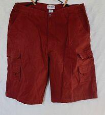 King Size Men's Dark Rust Khaki Cargo Shorts Size 42