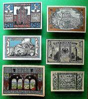 Lot of 6 Notgelds, early 1920's, Weimar Republic, Germany