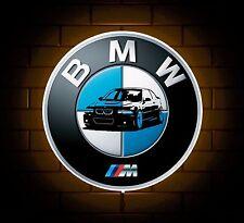 BMW M3 M badge sign LED LIGHT BOX UOMO GROTTA Garage Officina Sala Giochi Bambino Regalo
