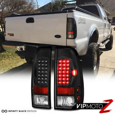 Ford 97-03 F150 | 99-06 F250 F350 SuperDuty Black LED Rear Tail Light Brake Lamp