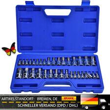 Steckschlüssel Satz 34 Tlg Imbus Inbus Sechskant Stecknuss KFZ Werkzeug Box PART