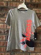 Adidas Boys Basketball wrap-around T-Shirt 7X