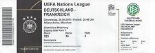 Ticket billet stub marte Allemagne DFB France FFF Equipe 6.9.18 no WC CM rare