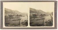 Monaco Il Port Vista Generale Foto Stereo PL53L3n73 Vintage Analogica c1900