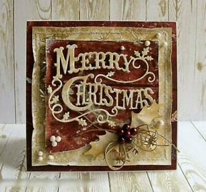 Merry Christmas Cover Card Cutting Dies Scrapbooking Embossing Album Mould