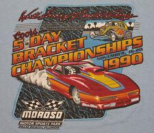 M * thin vtg 1990 MOROSO Bracket Racing FLORIDA screen stars t shirt * 63.128