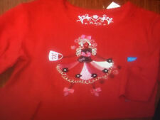 Nwt Tcp children's place can can girls dancer shirt 4 4t long sleeve bows Sale