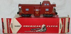 1957 American Flyer 935 Bay Window Caboose in Plain Box No Stamps
