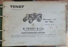 Fendt Farmer 4S + 105 + 105S Ersatzteilkatalog