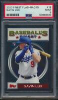 2020 Topps Finest Flashbacks #18 Gavin Lux RC Rookie Card Dodgers PSA 9 Mint