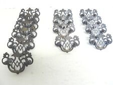SET OF 14 VICTORIAN STYLE BRASS FURNITURE OR DRAWER DROP PULLS