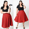 Lady Retro Rockabilly Vintage Plus Size 50s Style Polka Dot Prom Swing Dress