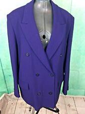 2c6cfba29ed84 Alexon Purple Wool Blend Oversized Coat Jacket Uk 16 Blogger