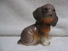 Dachshund Figurine - Japan label Puppy Dog Collectible Rare Vintage Lefton ?