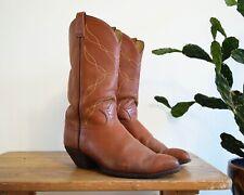 Men's 11 D Tony Lama Style 5055 Vintage Sienna Brown Leather Cowboy Boots