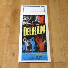 DELIRIUM locandina poster Janine Reynaud Jesus Franco Sadomaso Sex Z60