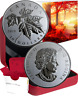 2019 Red Maple Leaf Twig $10 1/2OZ Pure Silver Coin Canada, Acer Rubrum