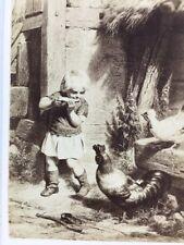 Victorian CDV Carte De Visite: Artwork #113: Meyerheim, Disturbed Breakfast