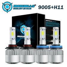 New listing 9005 Hb3+H11 H8 H9 Led Headlight Kit Bulbs 6500K High/Low Beam/Fog Lamps Combo