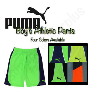 PUMA Boy's Soccer Shorts - Elastic Waist, Drawstring, 2 Pockets - VARIETY NWT