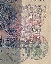 Very rarre banknote - STAMP CITTA DI FIUME Consiglio Nazionale - 50 KRONEN 1914