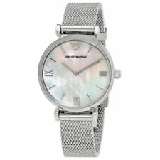 674d3935224 NEW EMPORIO ARMANI AR1955 T-BAR SILVER DIAL MESH STRAP WOMENS WATCH UK