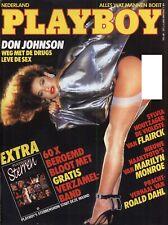 Dutch Playboy Magazine 1987-01 Luann Lee, Marilyn Monroe, Sylvia Houtzager ...