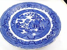 ANTIQUE  BLUE WHITE PLATE SAUCER ALLERTONS POTTERY