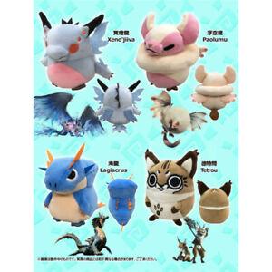 Monster Hunter: World Xenojiiva Paolum Tetrou Lagiacrus 14cm Plush Doll Toy Gift