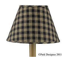 """LAMP SHADE - STURBRIDGE BLACK & TAN - PARK DESIGNS- 6"""", 10"""", 12"""" OR 14"""" DIAMETER"""