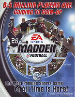 MADDEN EA SPORTS FOOTBALL NOS MINT VIDEO ARCADE GAME SALES FLYER BROCHURE 2004