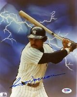 REGGIE JACKSON SIGNED PSA/DNA CERTED 8X10 PHOTO AUTOGRAPH AUTHENTIC
