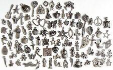 90 Breloques _ LOT MIX DIVERS arg. de 11 à 29 mm _ Perles charms création bijoux