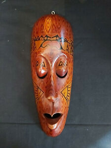 AFRICAN SOLID WOOD FACE MASK - 33CMS HIGH