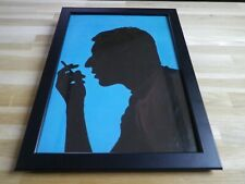 SERGE GAINSBOURG - Silhouette - POSTER ORIGINALE ENCADREE !! ORIG PICTURE FRAMED