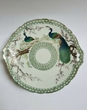 Schüssel Deko aus Porzellan Des Japan Dekor 2 Pfauen Federbeine Kirschbäume 19e