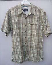Men's Green Check Mountain Life Short Sleeved Cotton Shirt  (S)