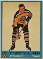 1962-63 Topps Hockey #21 Tom Williams RC VG-EX Condition (2020-13)