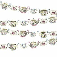 Truly Alice in Wonderland Mad Hatter Vintage Party Decor Talking Tables Teapot Bunting
