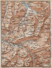 Muotathal pragel & Sihltal. Silbern liedernen (kaiserstock) IBERG 1938 Old Map