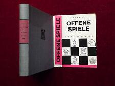 Buch Schach, Ludék Pachman, Offene Spiele, Schachtheorie, Sportverlag DDR 1963