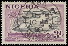 "NIGERIA 84i (SG73a) - Jebba Bridge over Niger River ""1958 Printing"" (pa88643)"