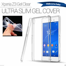 Sony Xperia Z3 soft TPU phone case rubber gell Cover Clear For Z3