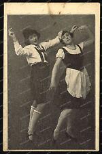 Ak-chica-Tracht-sombrero - vestido-baile-Girl-sexy - medias-pies-rock - 1930-años -