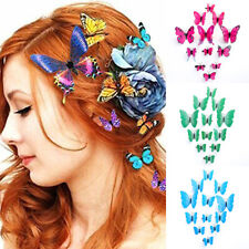 12PCS Butterfly Hair Clips Pins Barrette Bridal Hair Accessories Wedding Costume