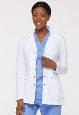 """Dickies Xtreme Stretch Women's 28"""" Snap Front Lab Coat - 82400"""