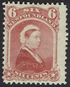 NEWFOUNDLAND 1868 QV 6C ROSE